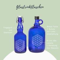 BUNDLE Glastrinkflaschen Blau